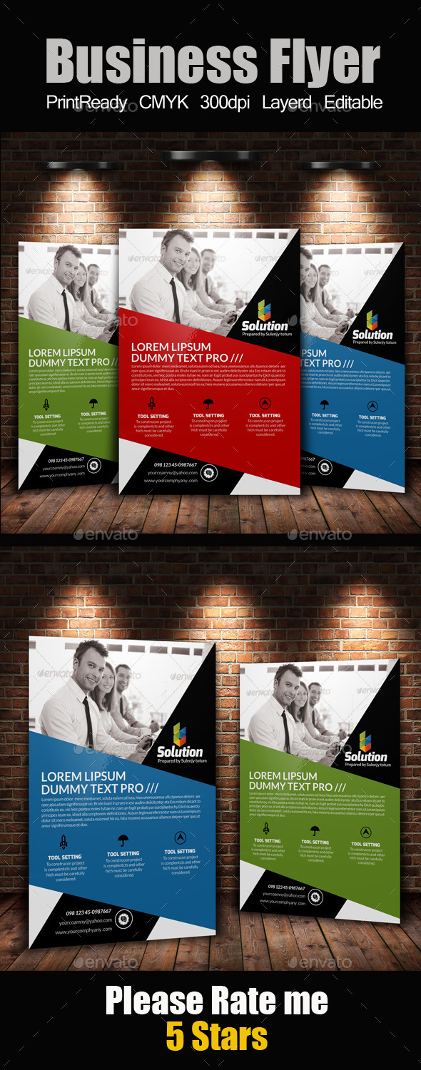 GraphicRiver A4 Business Flyer Template 11256329