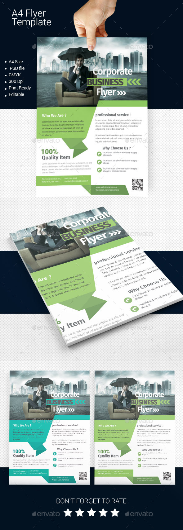 GraphicRiver A4 Business Flyer Template 09 11256335