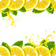 Banner with Lemons - GraphicRiver Item for Sale