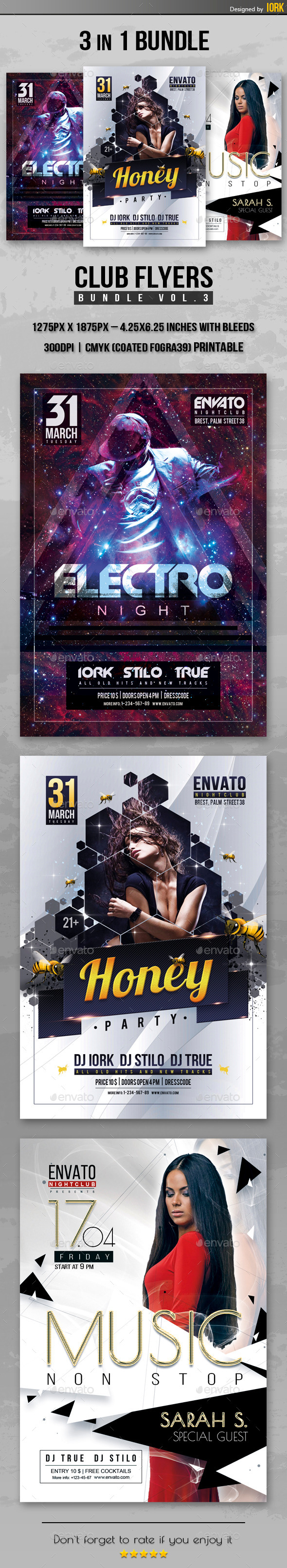 GraphicRiver Club Flyers Bundle Vol.3 11256472