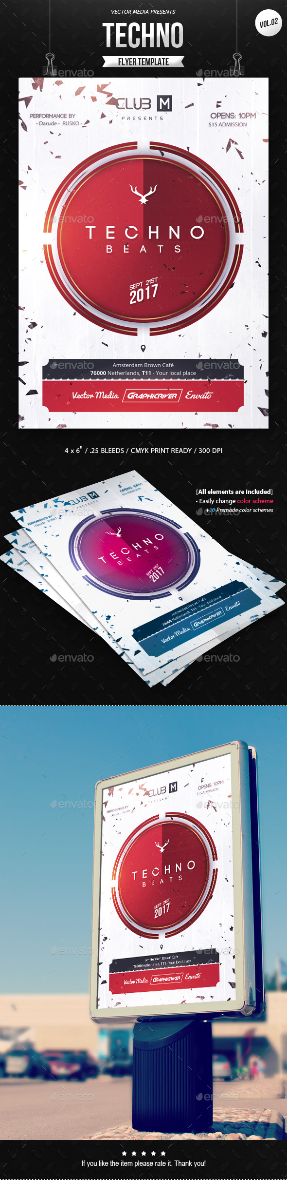 GraphicRiver Techno Flyer [Vol.2] 11256637