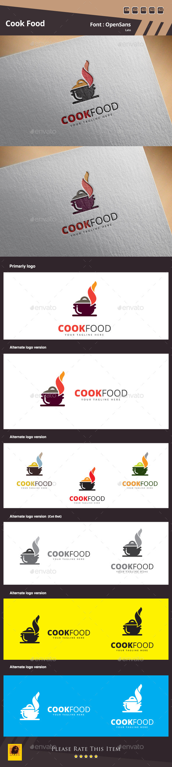 GraphicRiver Cook Food Logo Template 11256638