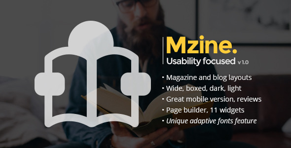 ThemeForest Mzine WordPress News Magazine Blog Theme 11103481