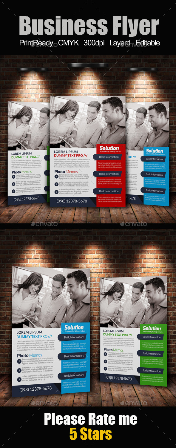 GraphicRiver A4 Business Flyer Template 11256911