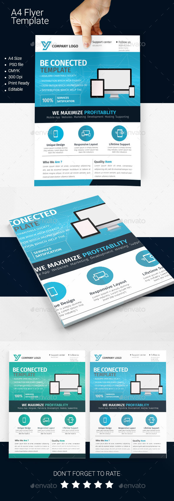 GraphicRiver A4 Business Flyer Template 01 11256912