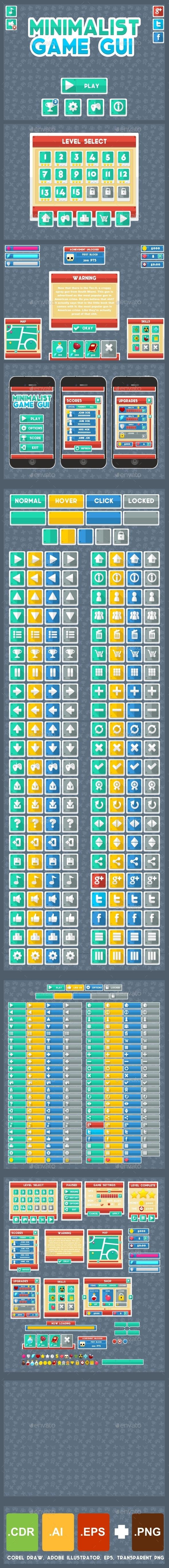 GraphicRiver Minimalist Game GUI 11257005