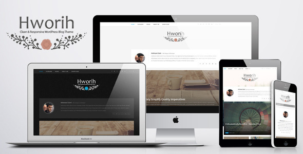 ThemeForest Hworih Clean & Responsive WordPress Blog Theme 11023536