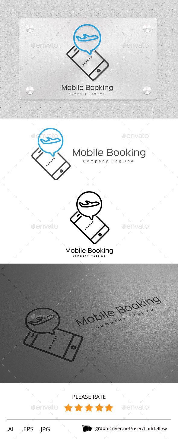 GraphicRiver Mobile Online Travel Booking Logo 11257208