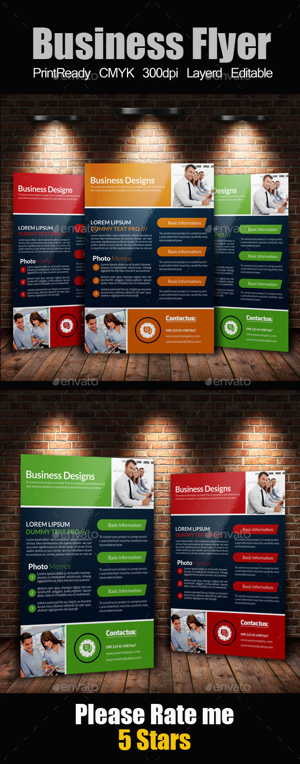 GraphicRiver A4 Business Flyer Template 11257214