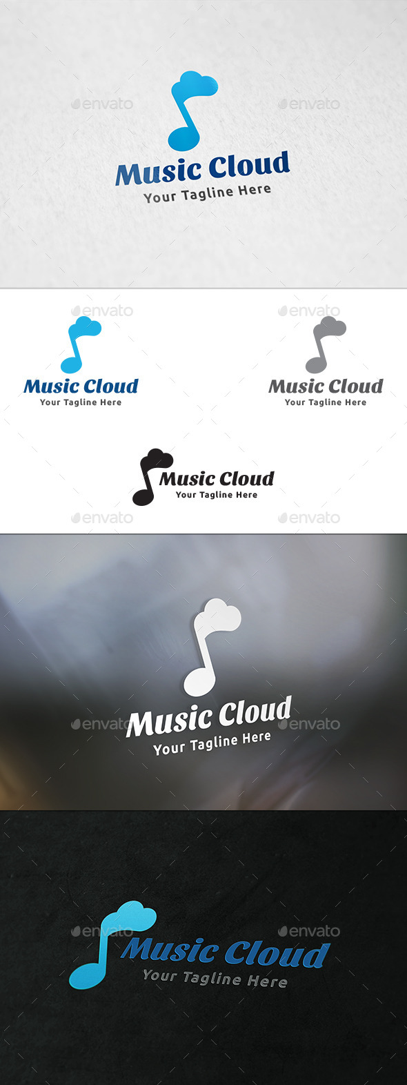GraphicRiver Music Cloud Logo Template 11257235