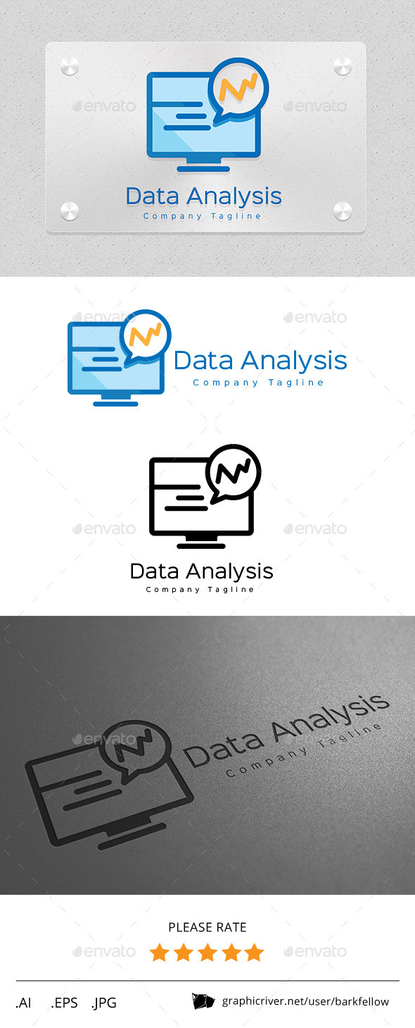 GraphicRiver Data Analysis Monitor Logo 11257297