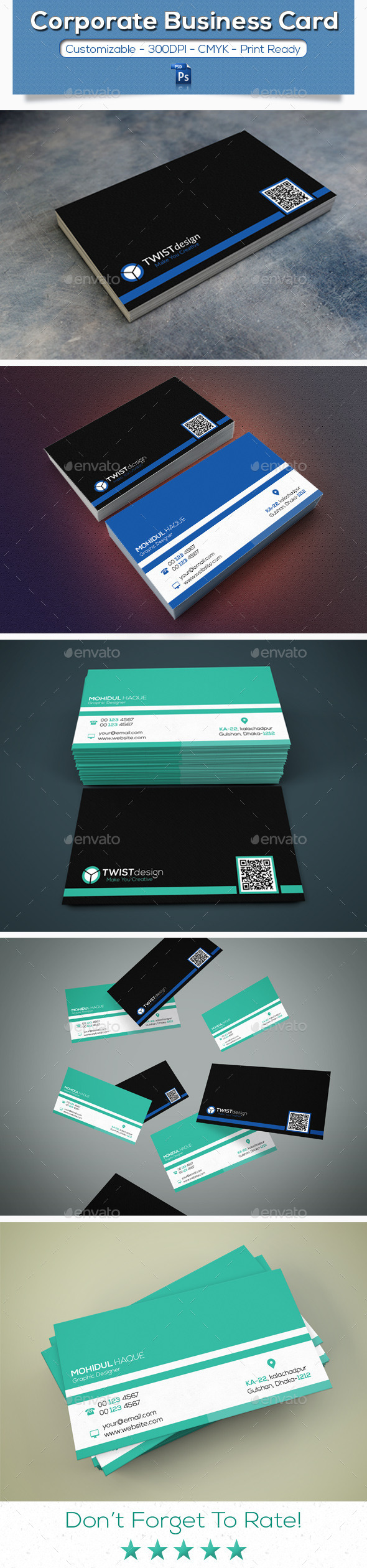 GraphicRiver Corporate Business Card V-7 11257333