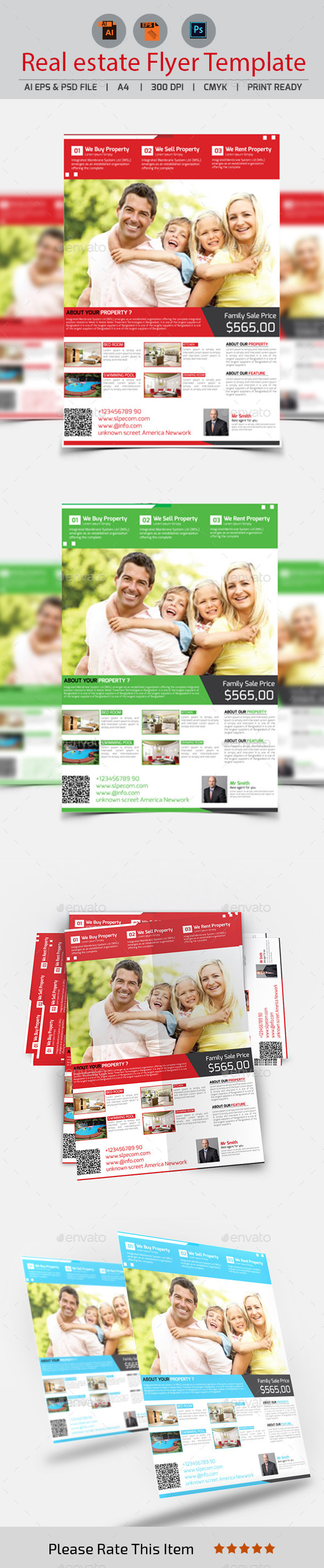 GraphicRiver Real Estate Flyer Template 11246054