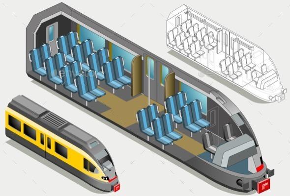 GraphicRiver Isometric High Speed Subway Longitudinal Section 11257426