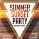Summer Sunset Party - GraphicRiver Item for Sale