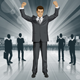 Vector Businessman With Hands Up - GraphicRiver Item for Sale