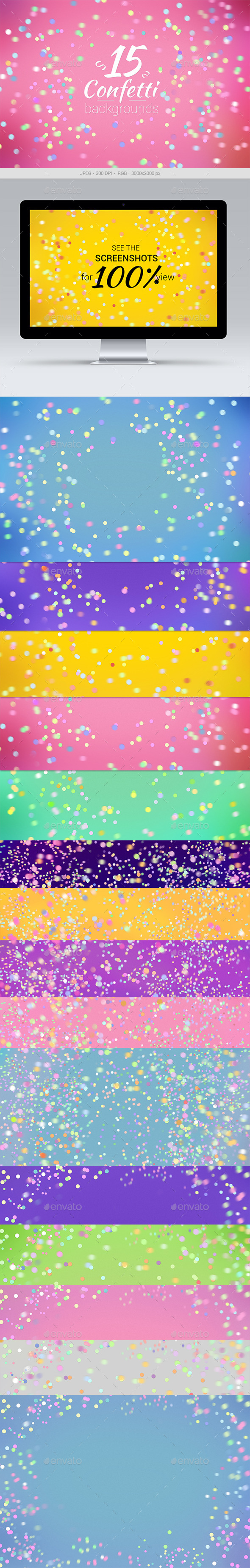 GraphicRiver 15 Confetti Backgrounds 11257626