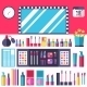 Flat Women Makeup Cosmetics - GraphicRiver Item for Sale