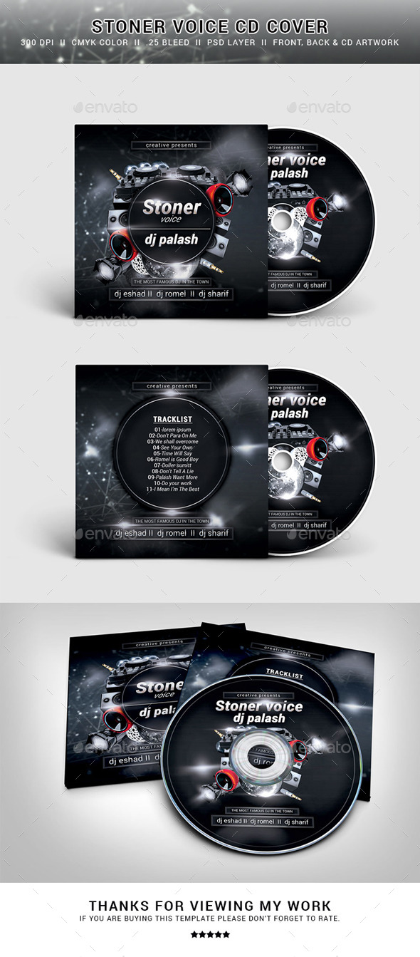 GraphicRiver Mixtape CD Cover 11257934