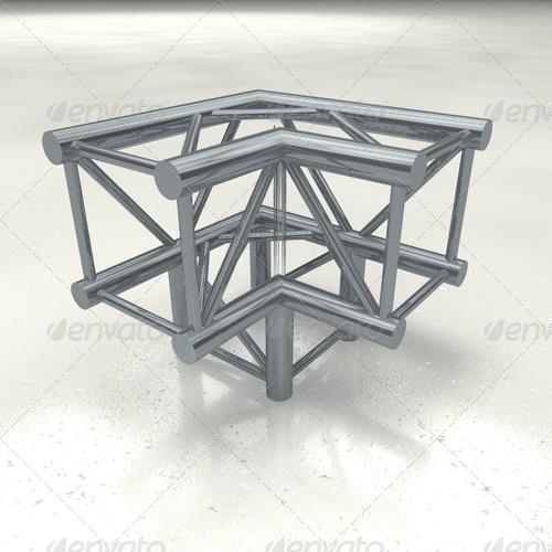 truss quattro corner + - 3DOcean Item for Sale