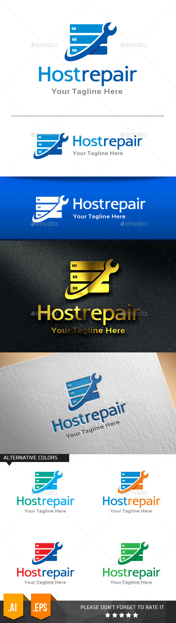 GraphicRiver Host Repair Logo Template 11258077