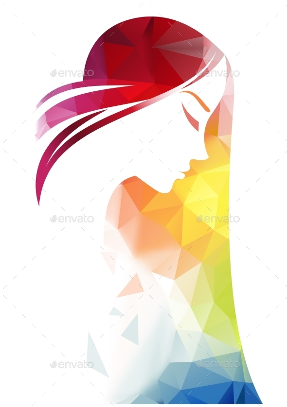 GraphicRiver Abstract Modern Background With Woman Face 11258086