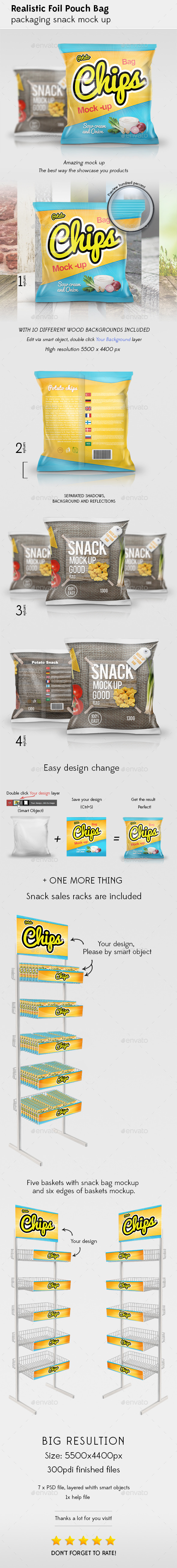 GraphicRiver Snack Bag Mockup 11258108