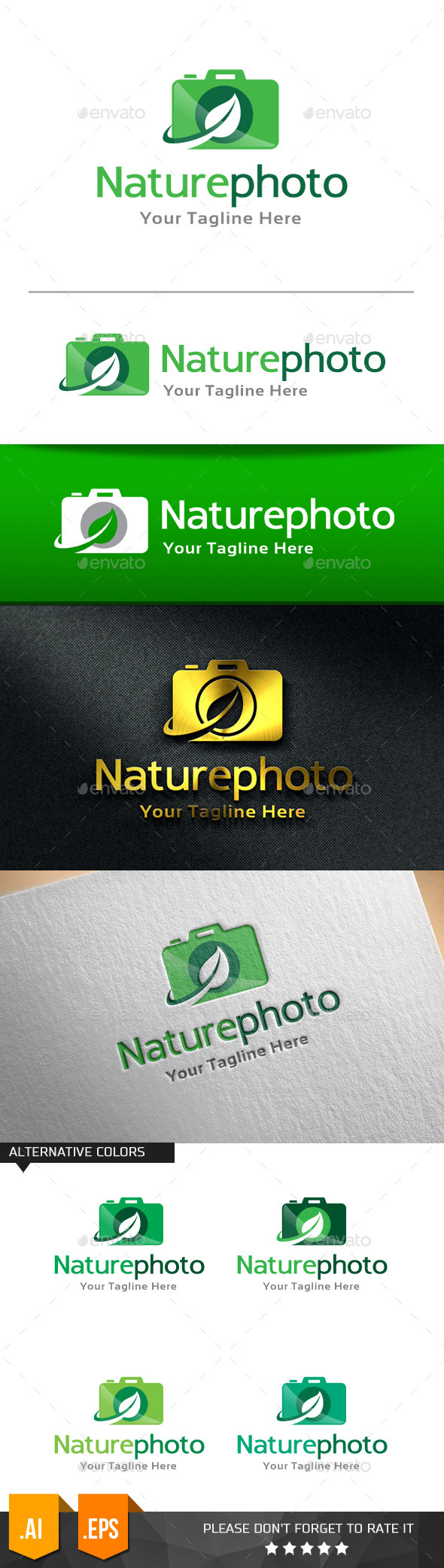 GraphicRiver Nature Photo Logo Template 11258189