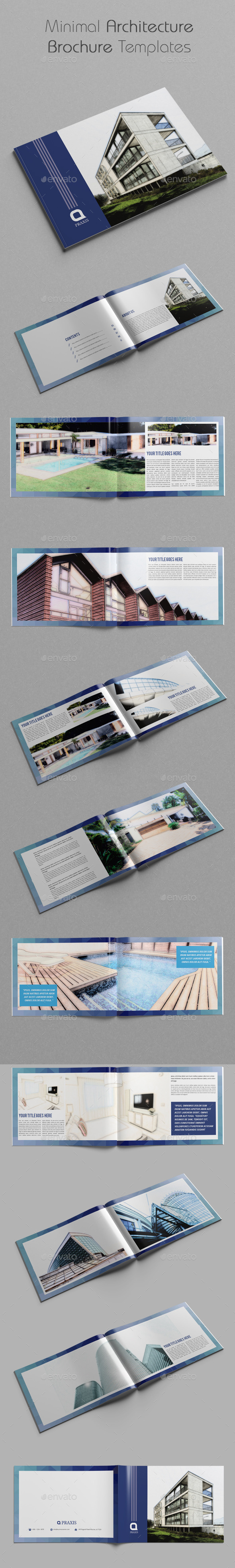 GraphicRiver Minimal Architecture Brochure Templates 11258221