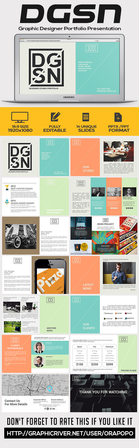 GraphicRiver DGSN Graphic Designer Portfolio Presentation 11258303