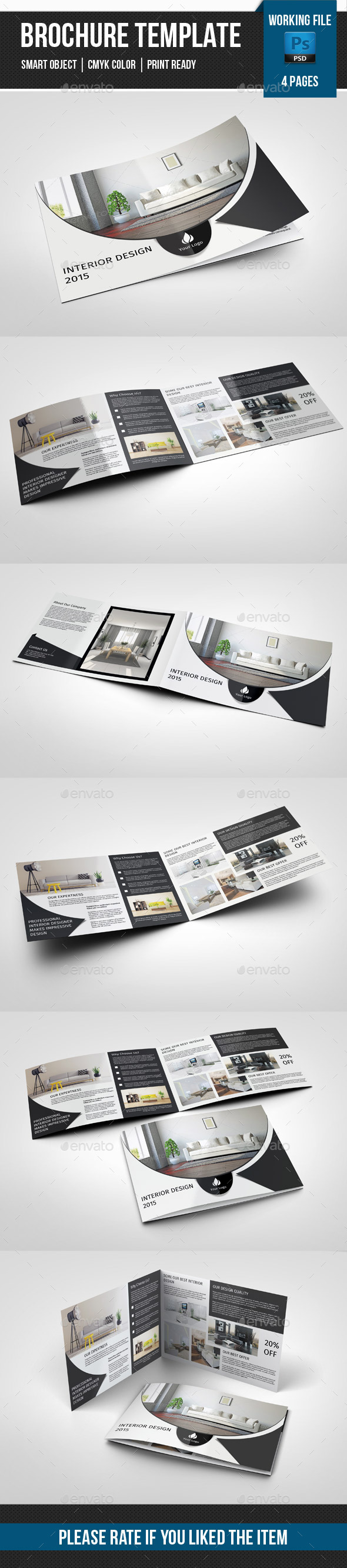 GraphicRiver 4 Page Landscape Brochure for Interior Design-V242 11258311