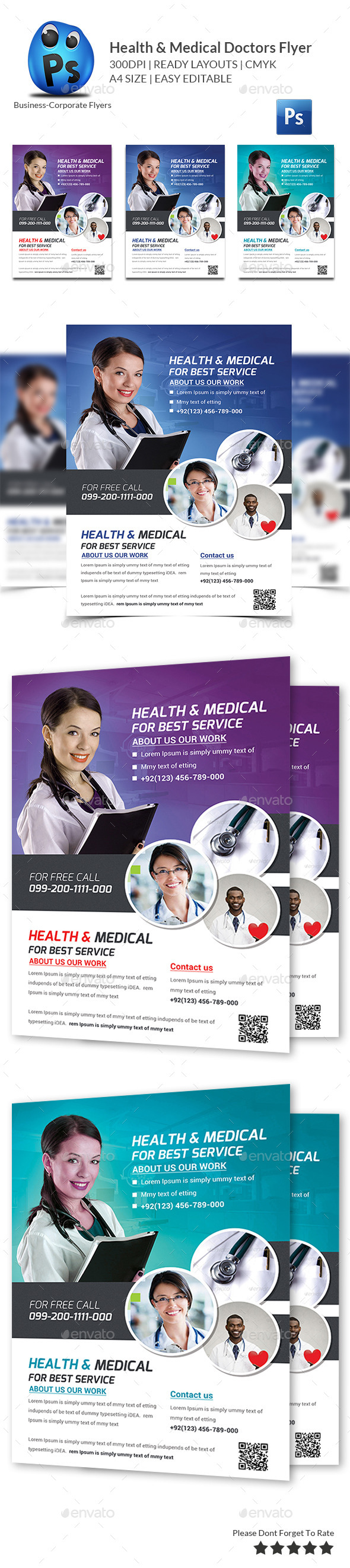 GraphicRiver Health & Medical Doctors Flyer Template 11258426