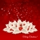 Vector Christmas Background With  Bow And Holly - GraphicRiver Item for Sale