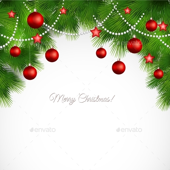 GraphicRiver Vector Merry Christmas Greeting Card 11258611