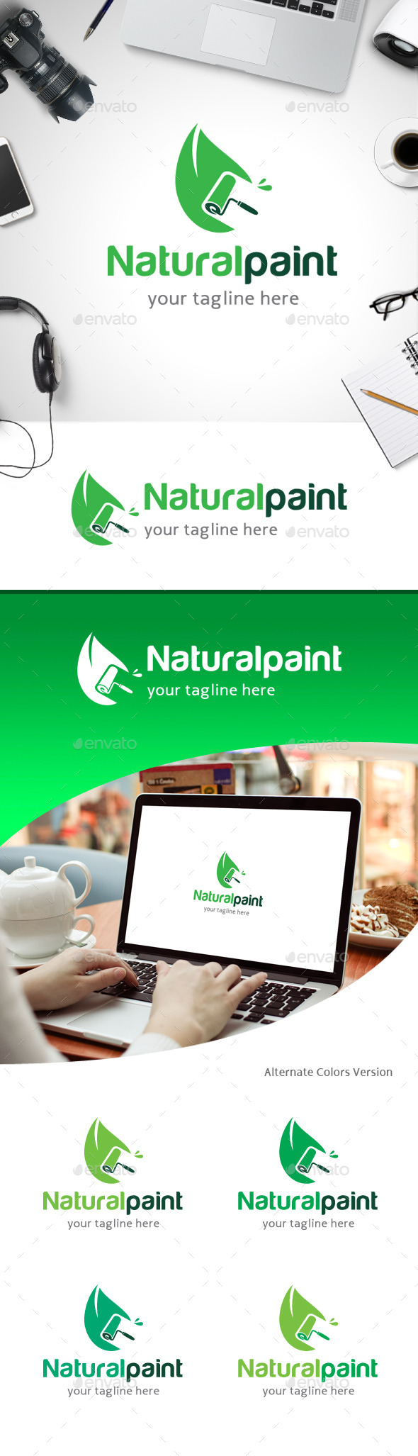 GraphicRiver Natural Paint Logo 11258780