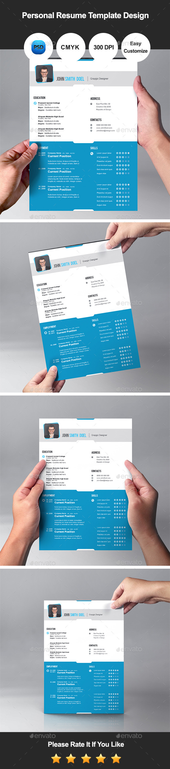 GraphicRiver Personal Resume Template Design 11184142