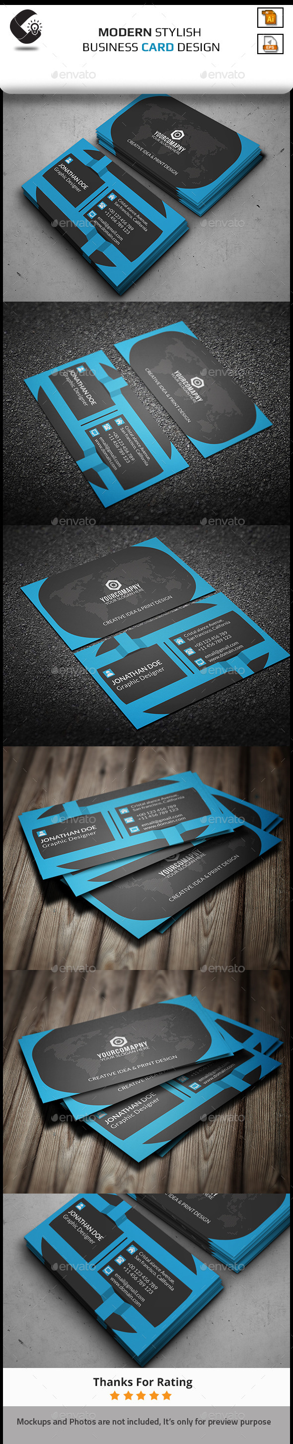 GraphicRiver Corporate Elegant Business Card 11258877