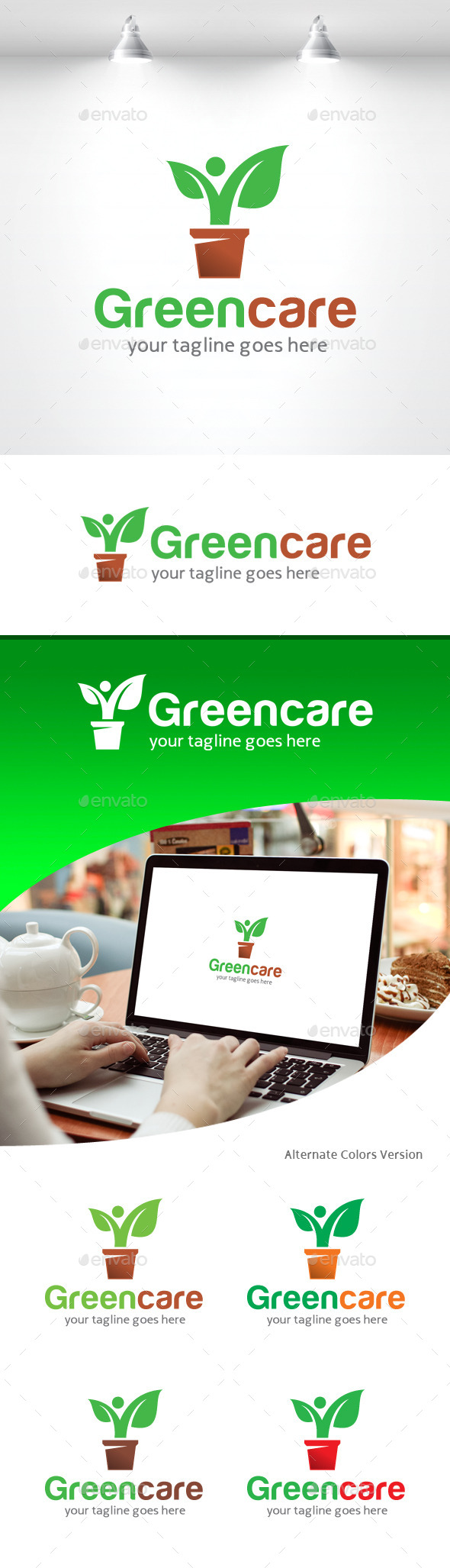 GraphicRiver Green Care Logo 11258905