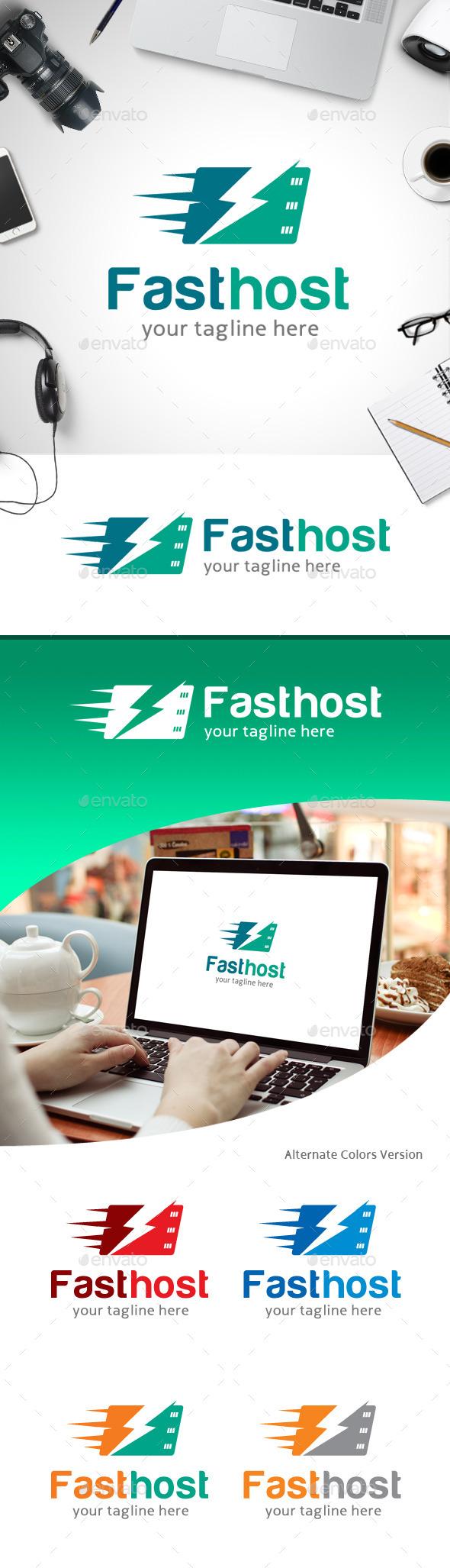 GraphicRiver Fast Host Logo 11258953