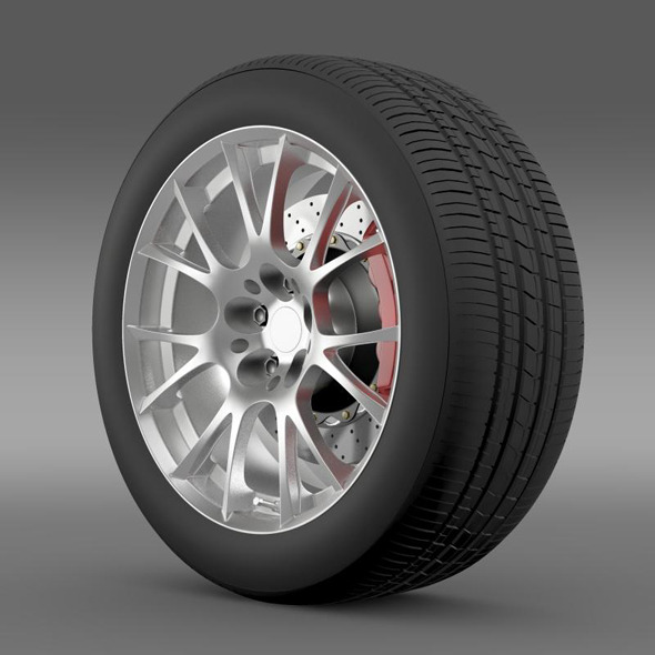 Toyota GT 86 GRMN wheel - 3DOcean Item for Sale