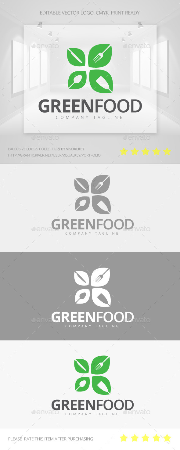 GraphicRiver Green Food Logo 11259018