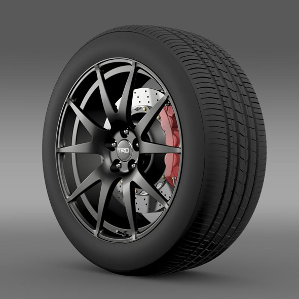 TRD Toyota GT 86  wheel - 3DOcean Item for Sale