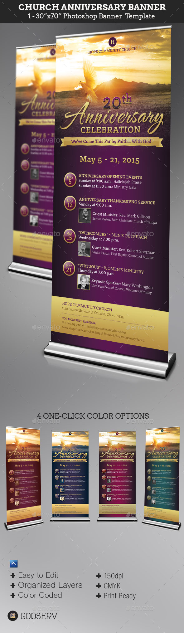 GraphicRiver Church Anniversary Banner Template 11259043