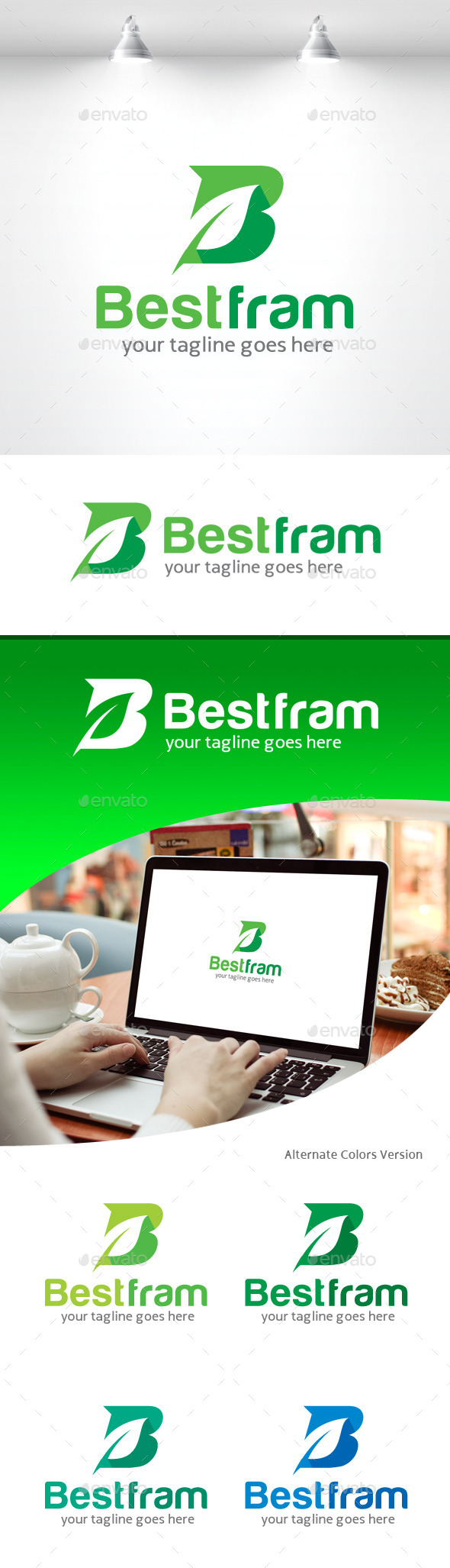 GraphicRiver Letter B Logo Leaf 11259107