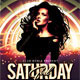 Saturday Girl Party Flyer - GraphicRiver Item for Sale