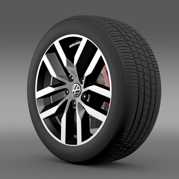 Volkswagen Golf S wheel - 3DOcean Item for Sale