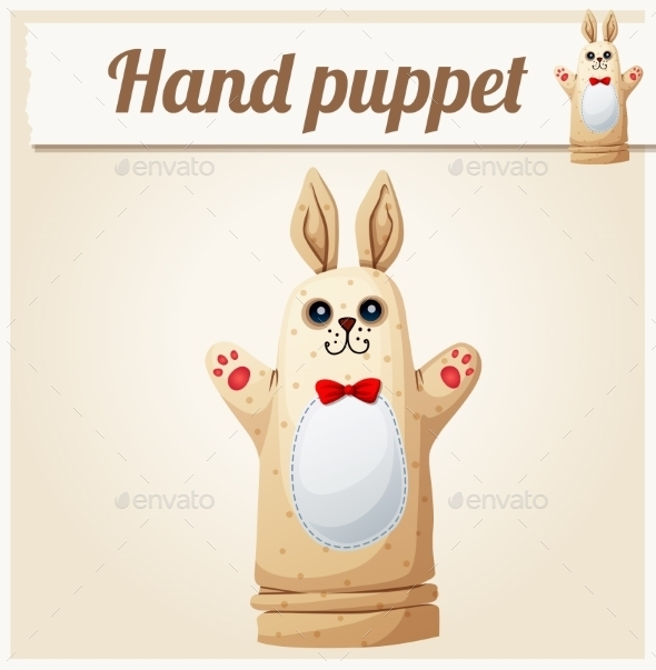 GraphicRiver Hand Puppet Rabbit Cartoon Vector Illustration 11259331