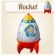 Toy Rocket. Cartoon Vector Illustration. - GraphicRiver Item for Sale