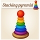 Stacking Toy Pyramid. Cartoon Vector Illustration - GraphicRiver Item for Sale
