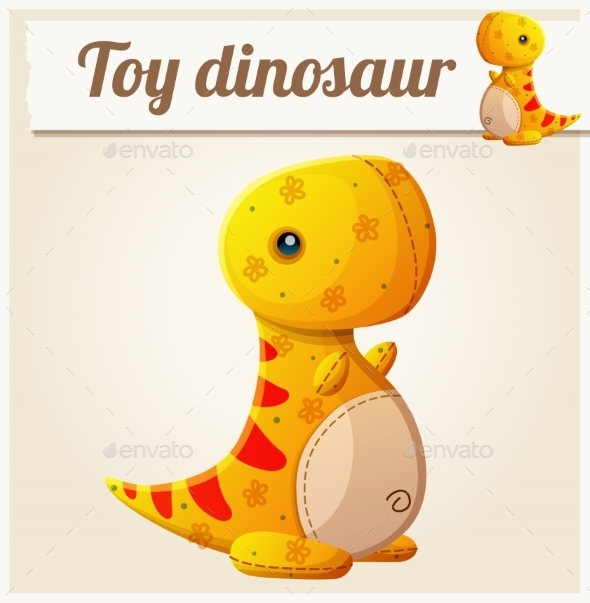 GraphicRiver Toy Dinosaur 6 Cartoon Vector Illustration 11259340